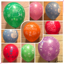 цена на 30/50Pcs 12inch 2.8g Snow Christmas Tree Printed Balloons Happy New Year Christmas Decoration Balloon Kids Toy Air Balls Globos