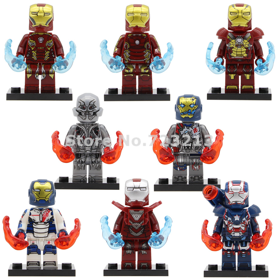 Single Sale Iron Man X0267 Super Hero Figure Ultron Iron Patriot Legions Iron-Man Mark Model Building Blocks Brick Toys Legoing