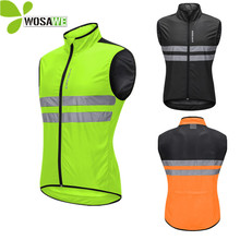 все цены на Reflective Cycling Vest Sleeveless Tight Jersey Breathable Windbreaker High Visibility MTB Bike Clothing Bicycle Safety Gilet онлайн
