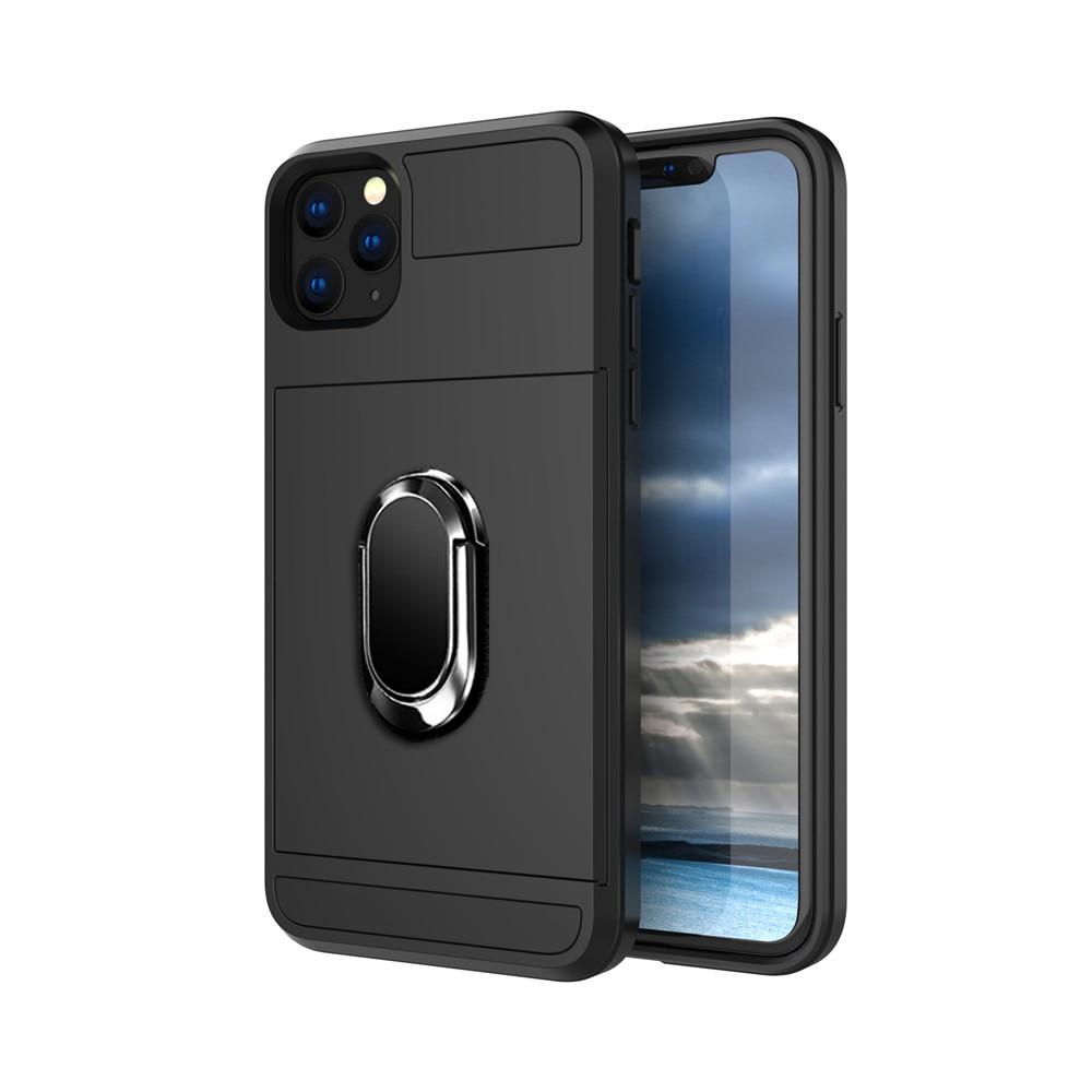 Armor Slide Card Shockproof Phone Case For Samsung Galaxy S10 S9 S8 Plus S7 Edge Note 9 8 A3 A5 A7 A8 Ring Stand Holder Case