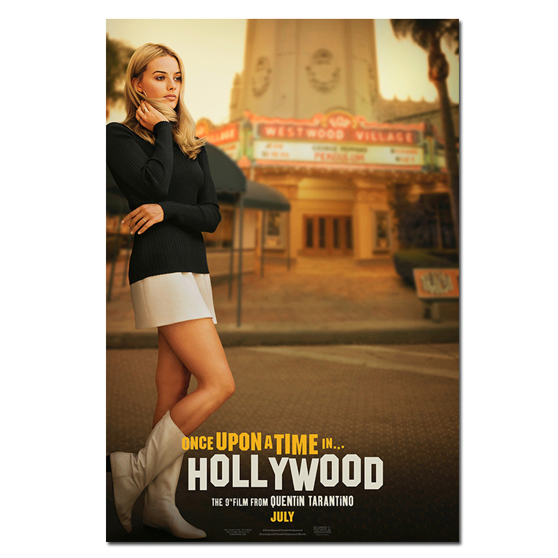 2019 New Movie Silk Poster Once Upon a Time in Hollywood Retro Art Prints Vintage Wall 2019 New Movie Silk Poster Once Upon a Time in Hollywood Retro Art Prints Vintage Wall Decor Pictures Quentin Tarantino Posters