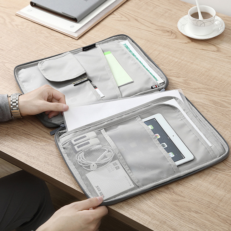 High Capacity Document Storage Bag Ipad Organizer Pouch Multifunction Weekend Portable Tourism Passport Finishing Kit Accessorie