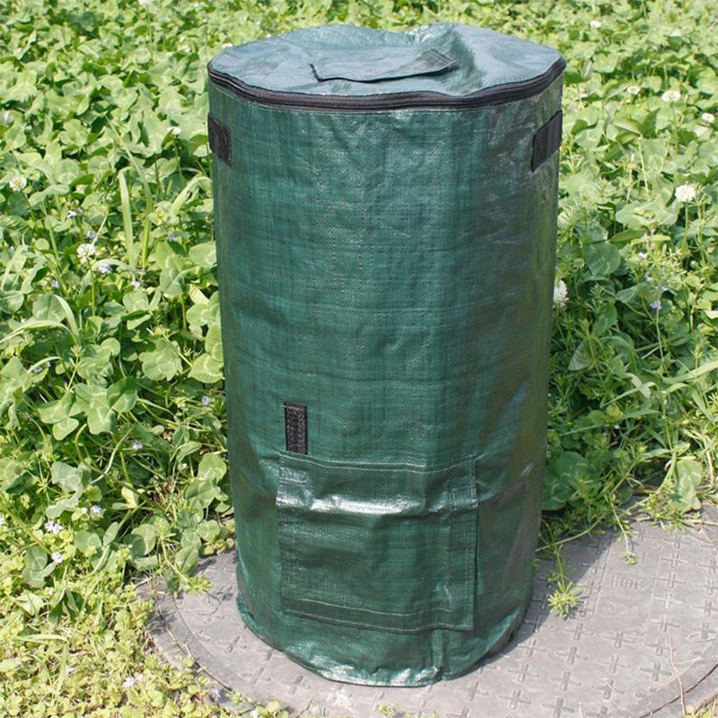 Organic Waste Kitchen Garden Yard Compost Bag Environmental PE Cloth Planter Kitchen Waste Disposal Organic Compost Bag
