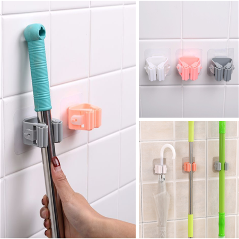 Kitchen Wall Shelf Mop Rack Holder Umbrella Hanger Hook Wall Mounted Racks Bathroom Organizer For Broom Holder Storage Tools