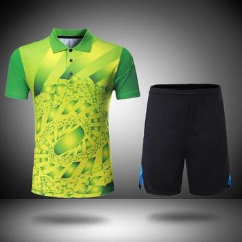 Dres mężczyźni i kobiety wolant koszulka tenis stołowy szkolenia garnitury z krótkim rękawem koszule do badmintona i badmintona spodenki odzież sportowa tanie i dobre opinie
