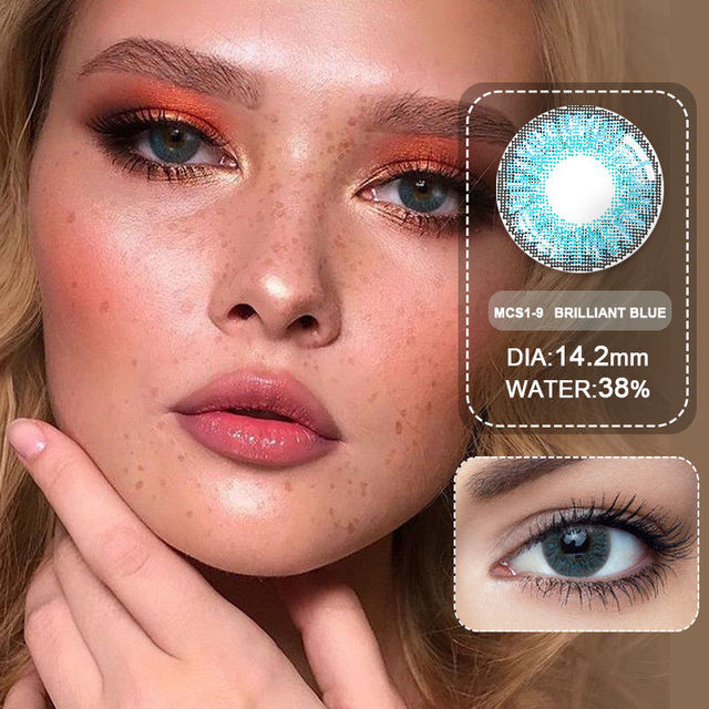 (Wholesale) Colored Contacts/Circle Lenses 2pcs/Pair Contact Lenses For Eyes Non Prescription Color Contact Lens With Free Case 4