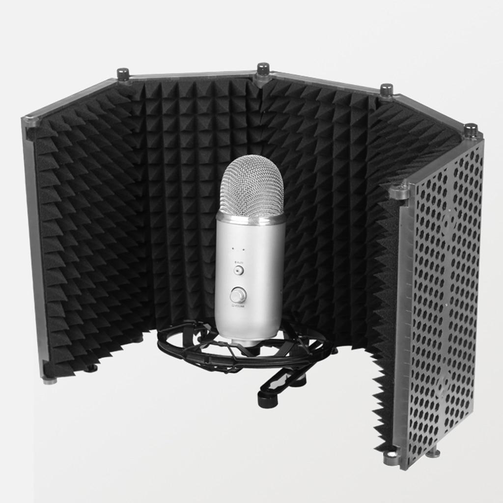 Protection de Microphone pour lenregistrement du son accessoires de Microphone de diffusion en direct accessoires musicaux en mousse absorbant le bruit de qualité supérieure