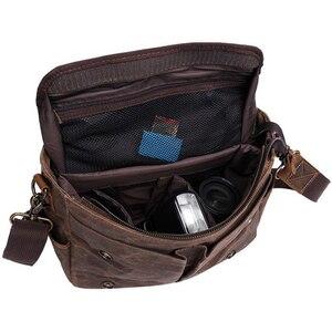"""Image 3 - בטיק בד בציר רטרו עמיד למים מצלמה כתף 14 """"מחשב נייד מזדמן שליח תמונה גברים נשים תיק עבור Canon Nikon Sony DSLR"""