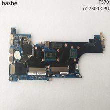 Placa base para ordenador portátil Lenovo Think pad T570, CPU i7 7500 FRU:01ER274 01YR399 02HL436, prueba completa, entrega gratuita