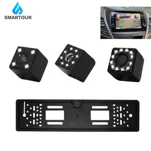 Smartour License-Plate-Frame Car-Number Parking Rearview-Cam Reverse-Backup Auto Night-Vision