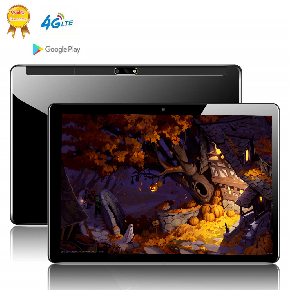 Tablet 10 Polegada  Global Version 10 Inch 2.5D Glass Tablet PC 10 Deca  Core 8GB RAM 128GB ROM Android 9.0 WiFi 3G 4G LTE IPS