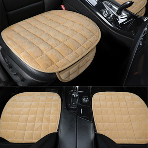 Image 2 - Универсальные зимние теплые чехлы для сидений автомобиля, Нескользящие Чехлы для передних сидений, дышащие накладки для автомобильных сидений, Защитные чехлы для автомобильных сидений