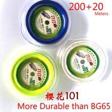 220m longthen mais durável do que bg65 profissional badminton corda yh101 resistência de controle 0.7mm raquete net h qualidade l2101spc