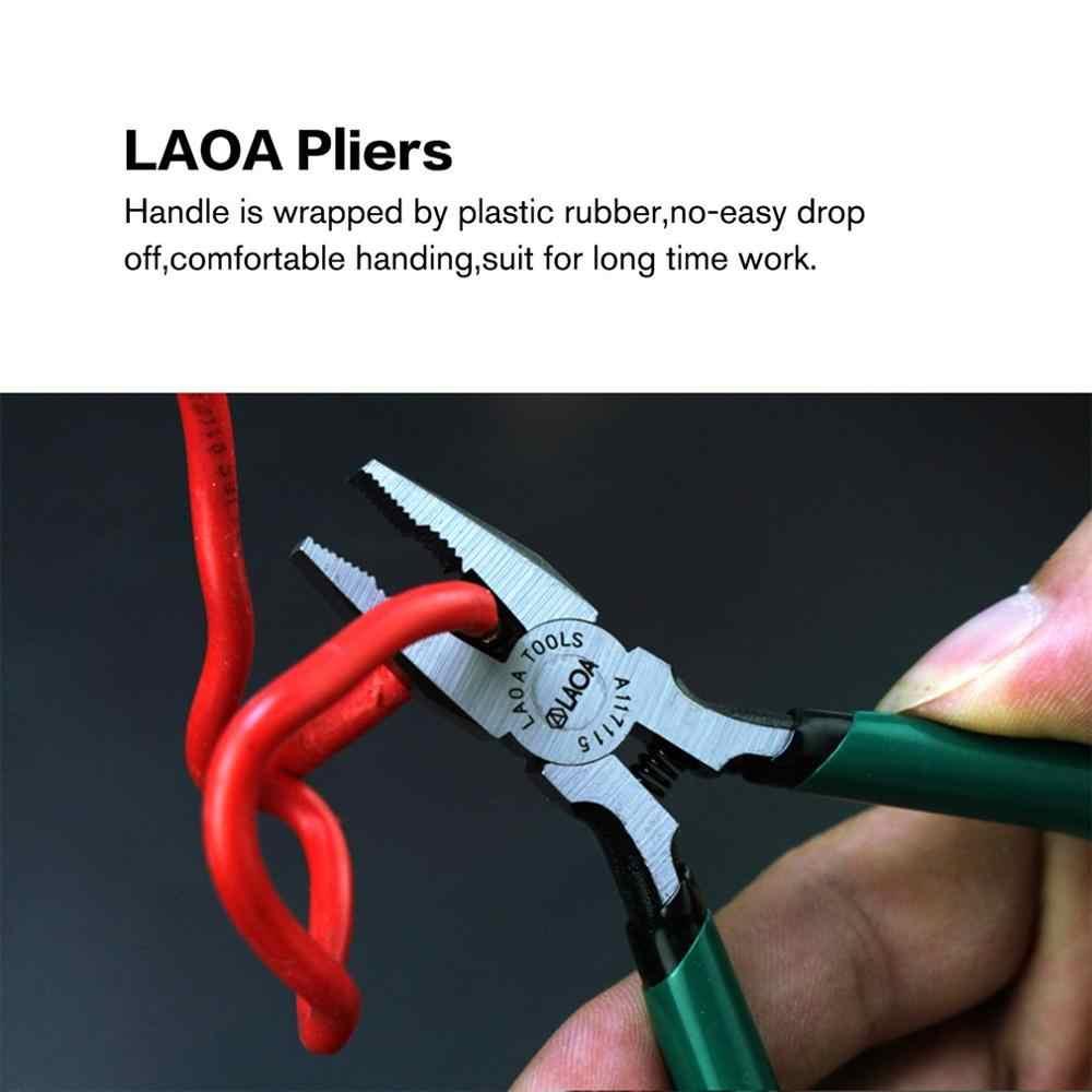 Laoa 5 Inch Draad Cutter Lange Neus Side Knipt Tangen Mini Diagonale Tang Voor Vissen Kabel Snijden Handgereedschap