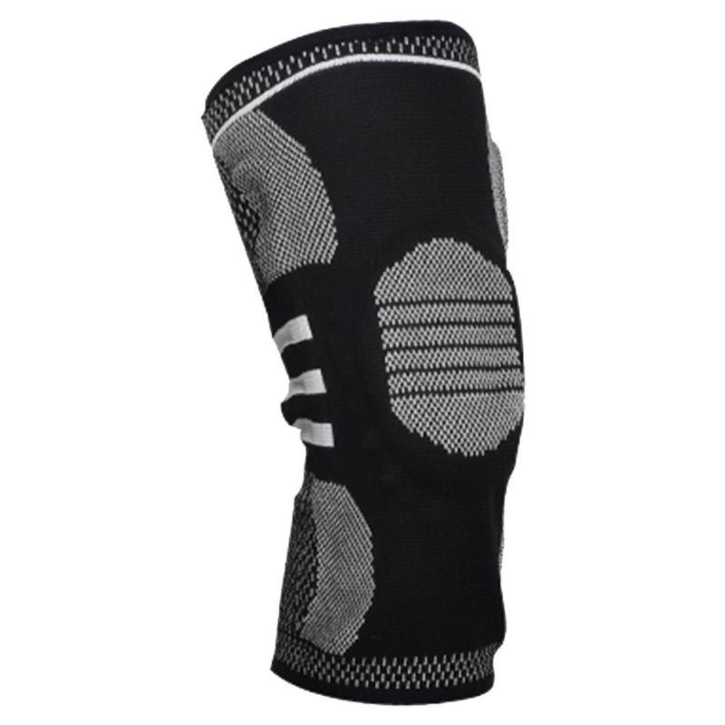 New Silicone Anti-collision Sports Knee Pads Spring Supports Full Knee Supports With Bone Inner Support Fitness Protective Gear