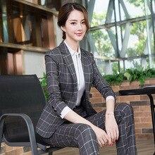 High quality ladies suit set slim trouser suit
