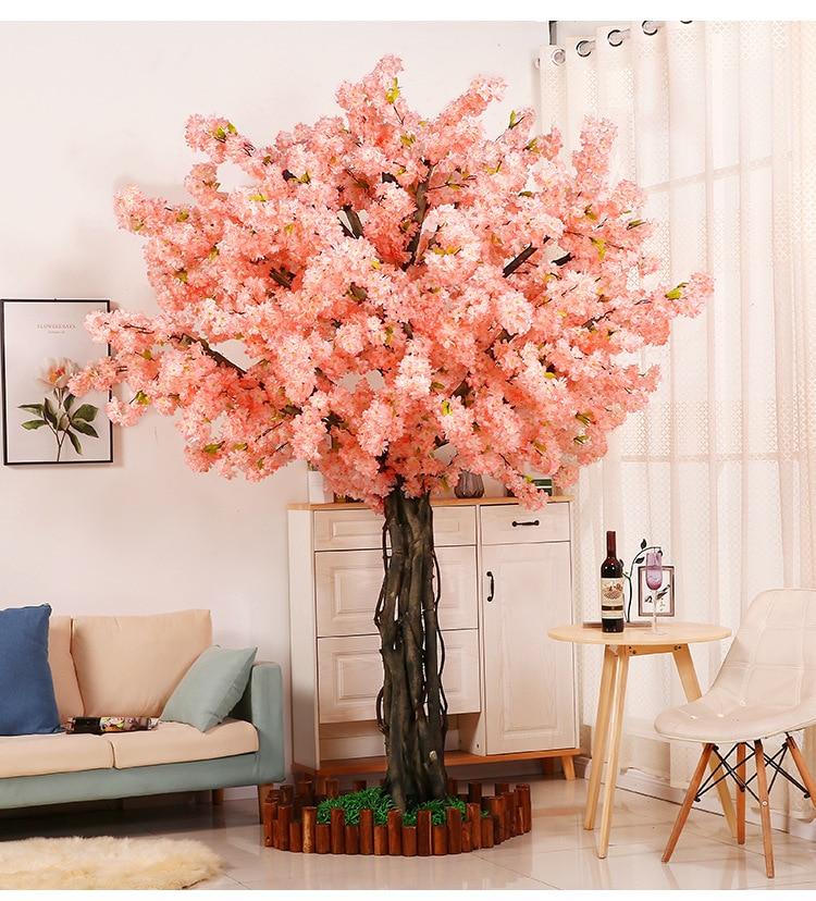 20 piezas Rama de cerezo Rosa cereza decoración boda arco flor de cerezo actividad fiesta melocotón árbol flor Rama