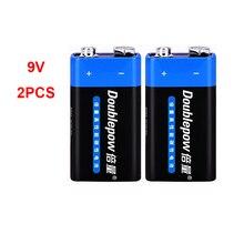 2 предмета в комплекте 9V Батарея 6F22 первичные и сухие батареи для мультиметр сигнализации микрофон Железный чехол одноразовые Батарея