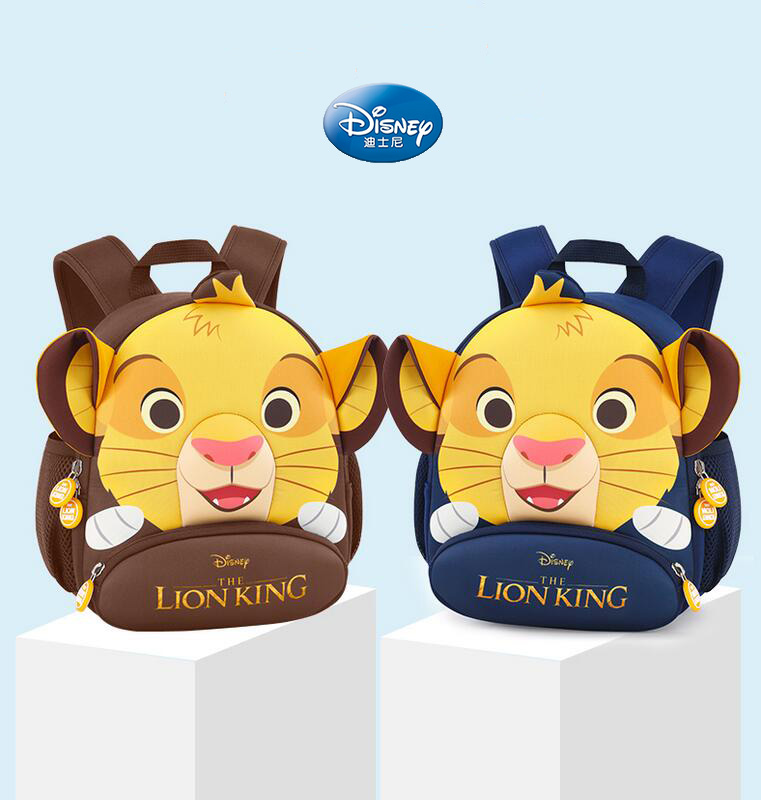 Hot Genuine Disney The Lion King Simba 28-35cm Backpack Kids Boys Girls Cartoon School Cute Bag Children Toy Birthday Gift