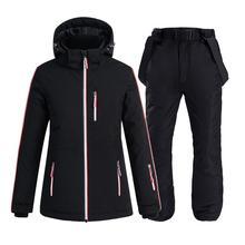 Snowboarding-Sets Pants Ski-Suit Fleece Waterproof Jacket Thicken Skiing Warm And Winter