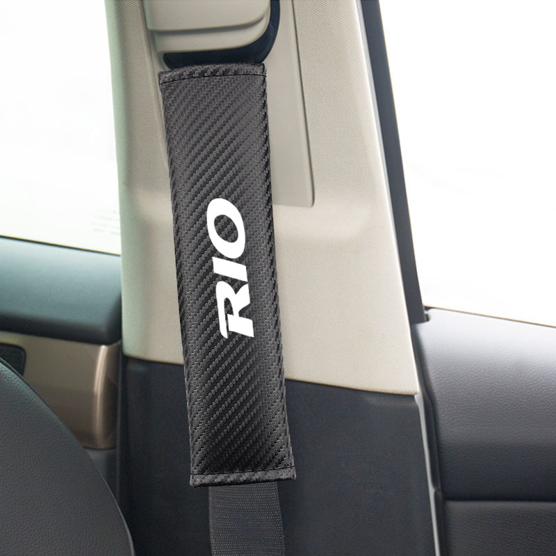 Breathe Leather Car Seat Belt Shoulder Pads Covers Cushion For Black PEUGEOT