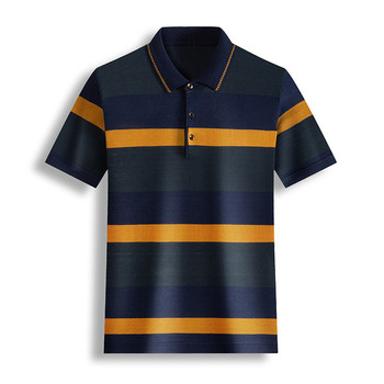 Ymwmhu New Cotton Polo Shirt Men Short Sleeve Striped Graphic Summer Thin Cool Streetwear Drop Ship Clothes - discount item  40% OFF Tops & Tees
