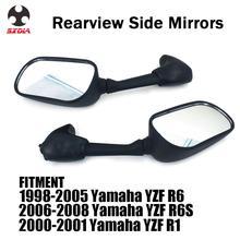 รถจักรยานยนต์ด้านหลังกระจกมองหลังด้านหลังสำหรับ YAMAHA YZFR6 1998 2005 YZFR6S 2006 2007 2008 YZFR1 2000 2001 YZF R6 R6S R1