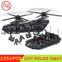 New Military Set Army City Police Soldiers SWAT Building Block Ship Vehicle Helicopter Model Brick Toy Compatible Legoed Technic(China)