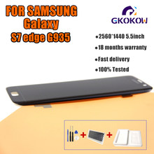 display s7 edge For Samsung Galaxy S7 Edge G935 G935F Lcd Display Touch Screen Digitizer For s7 edge lcd(China)