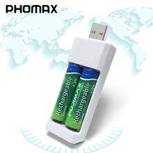 Портативное зарядное устройство PHOMAX, универсальное, с двумя USB портами, AA, AAA, Ni MH, Ni Cd