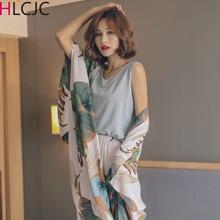 Fresh Pajama Cotton Sets 4 Pieces Pajamas Sets Women Sleepwear Female Pijama 2019 Cute Fashion Pyjam