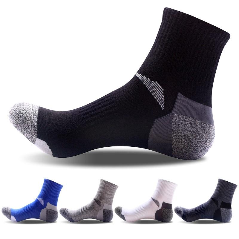 2 Pairs Summer Unisex Sports Thermal Cotton Pile Cashmere Mens  Socks Seamless Climbing Hiking Skiing Socks EU 39-44 Meias