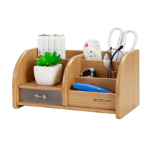 New Fashion Cosmetics Storage Multi-function Wooden Pen Holder Desk Box Office Supplies Stationery Glosen C2031