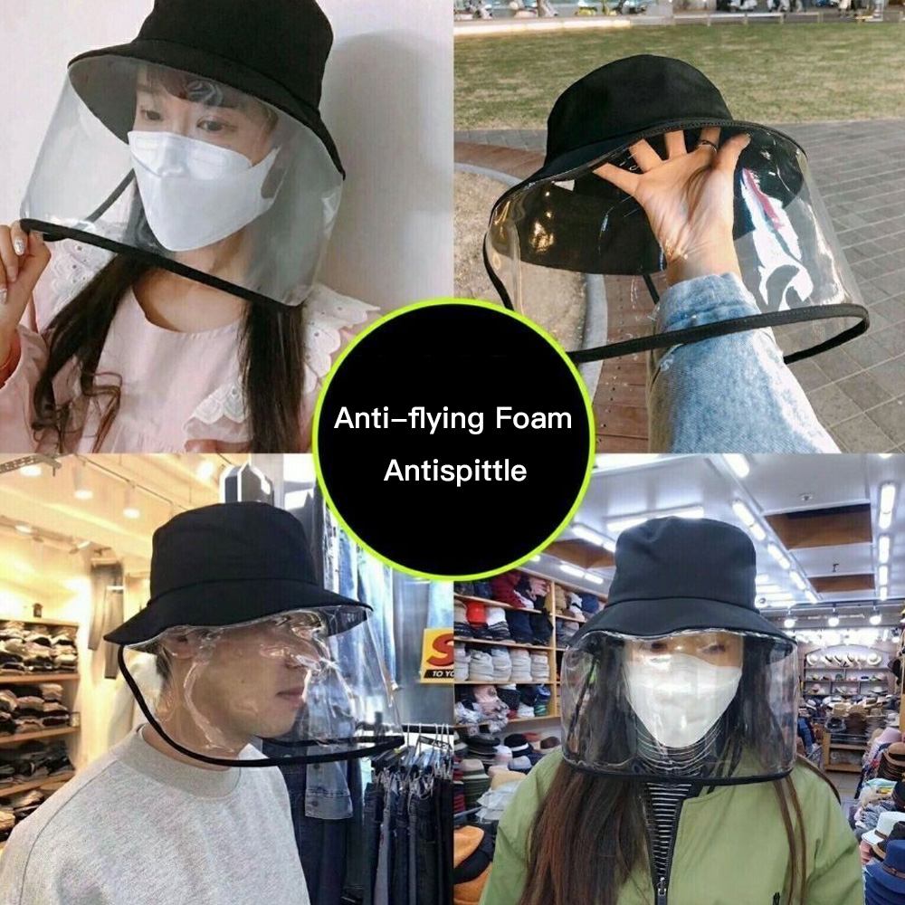 Image 4 - 1PCS Face Protection Masks Hat Helmet Isolation Corona Respirator  Anti Virus Spittle Surgical Safety Shield work with KF94 N95Braces