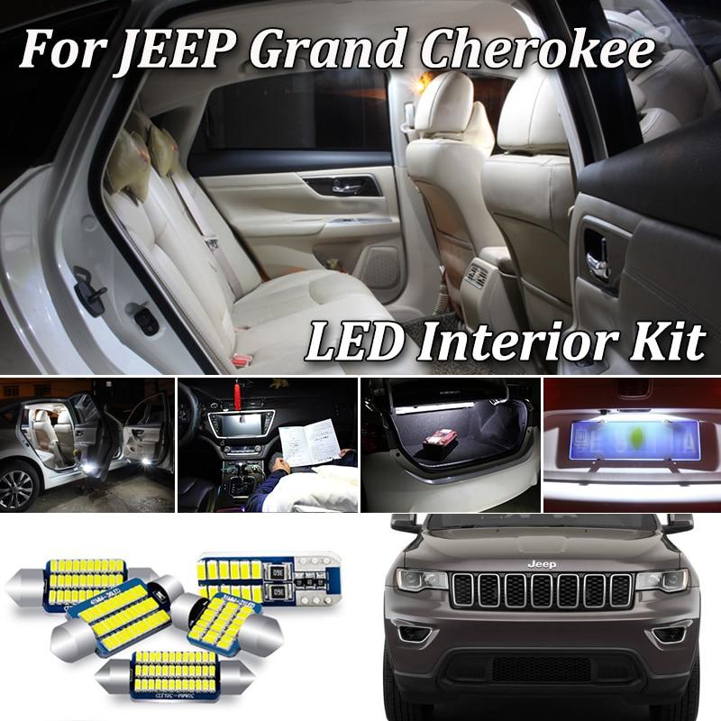 100% белый безотказный CAN-шина для Jeep Grand Cherokee ZJ WJ WK WK2, комплект светодиодного освещения для салона (1993-2020)