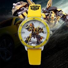Hot Sale Fashion Kids Watches Boys Cartoon Transformers Spor