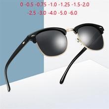 0 -0.5 -1.0 a-4.0 prescrição polarizada óculos de sol masculino feminino menos grau miopia semi-rimless oculos de sol gafa