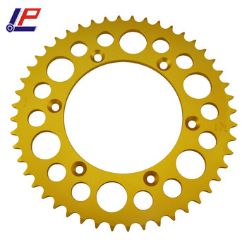 LOPOR Motorcycle Gold Color Rear Sprocket 520 48T 51T For BMW G450 X K16  2008-2010 G 450 X Street LegalK16 09