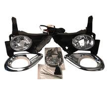 Suitable for Honda CRV CR V 2005 2006 front bumper fog lamp with switch wire group fog lamp frame bulb 9006 12v 51w