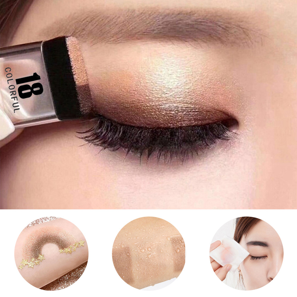 Double Color Gradient Lazy Eye Shadow Makeup Palette Glitter Eyeshadow Pallete Waterproof Glitter Eyeshadow Shimmer Cosmetics 2