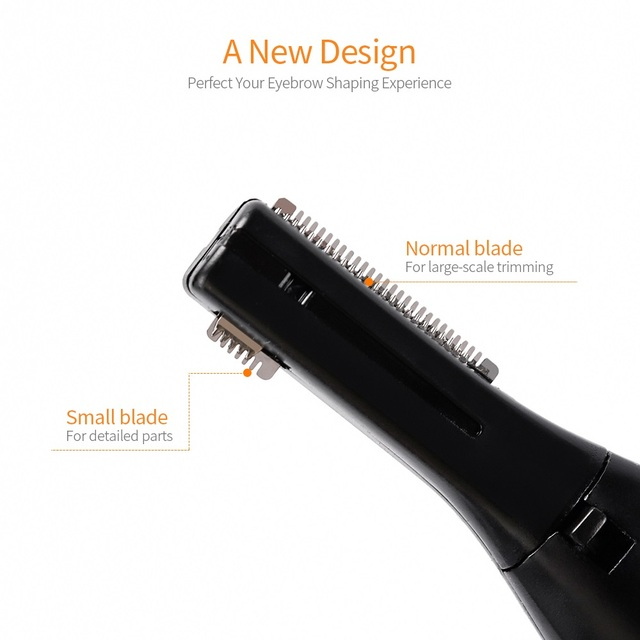 Electric Eyebrow Trimmer Threading Knife Eyebrow Shaver R-Type Blades Cleaning Hand Armpit Bikini Hair Adjustable Cutter Heads 1