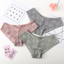 все цены на Fashion Sexy Lace Panties Women Fashion Cozy Lingerie Tempting Pretty Briefs Cotton Low Waist Cute Women Underwear M-XXL Panties онлайн