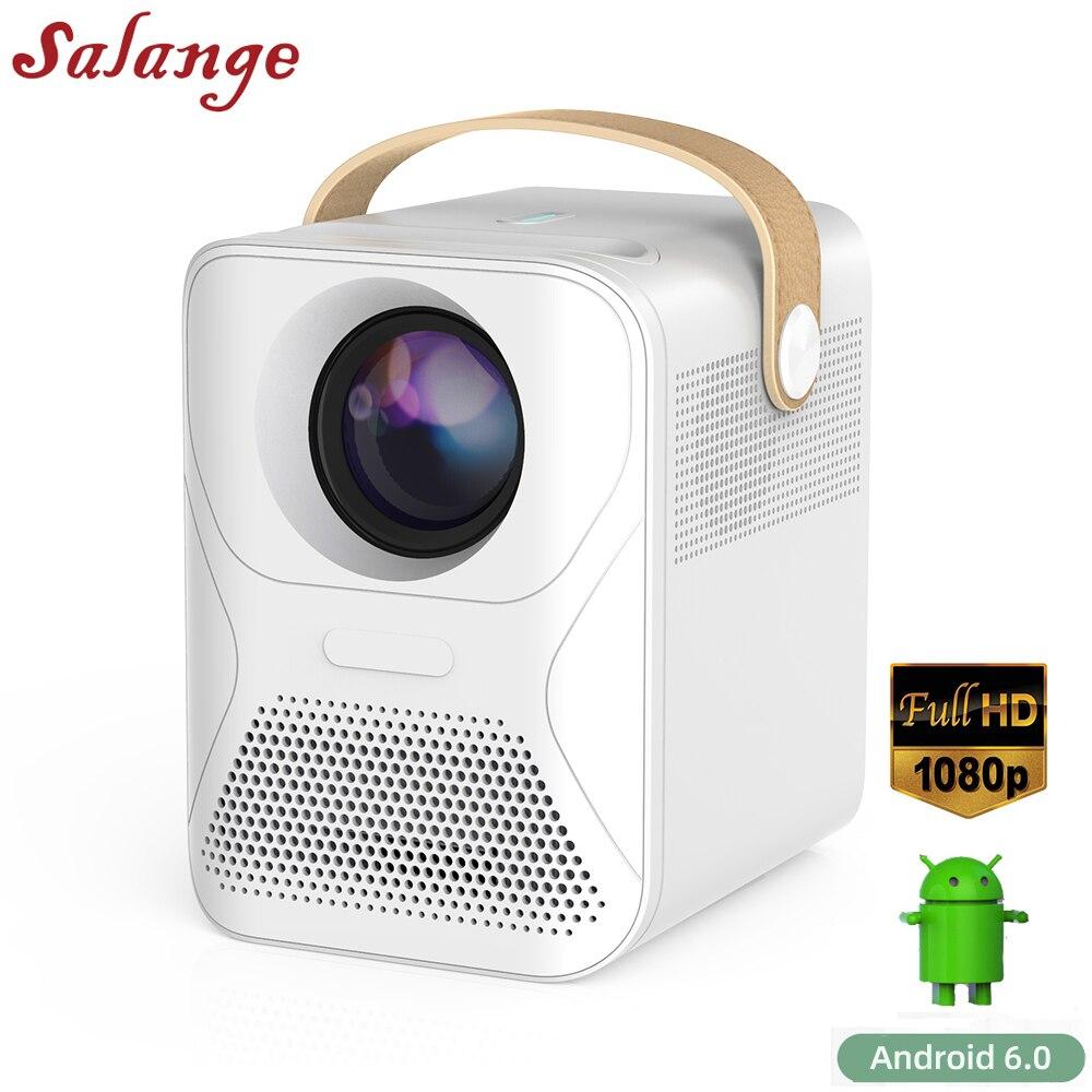 Salange P56 1080P Android проектор Full HD ТВ видео проектор фильм 8000 мАч домашний кинотеатр совместимый пожарный телевизор, ноутбуки, ПК, PS4