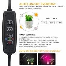 Led Clip Plant Growth Lamp Usb Dimming Timing Desktop Full Spectrum Bulb