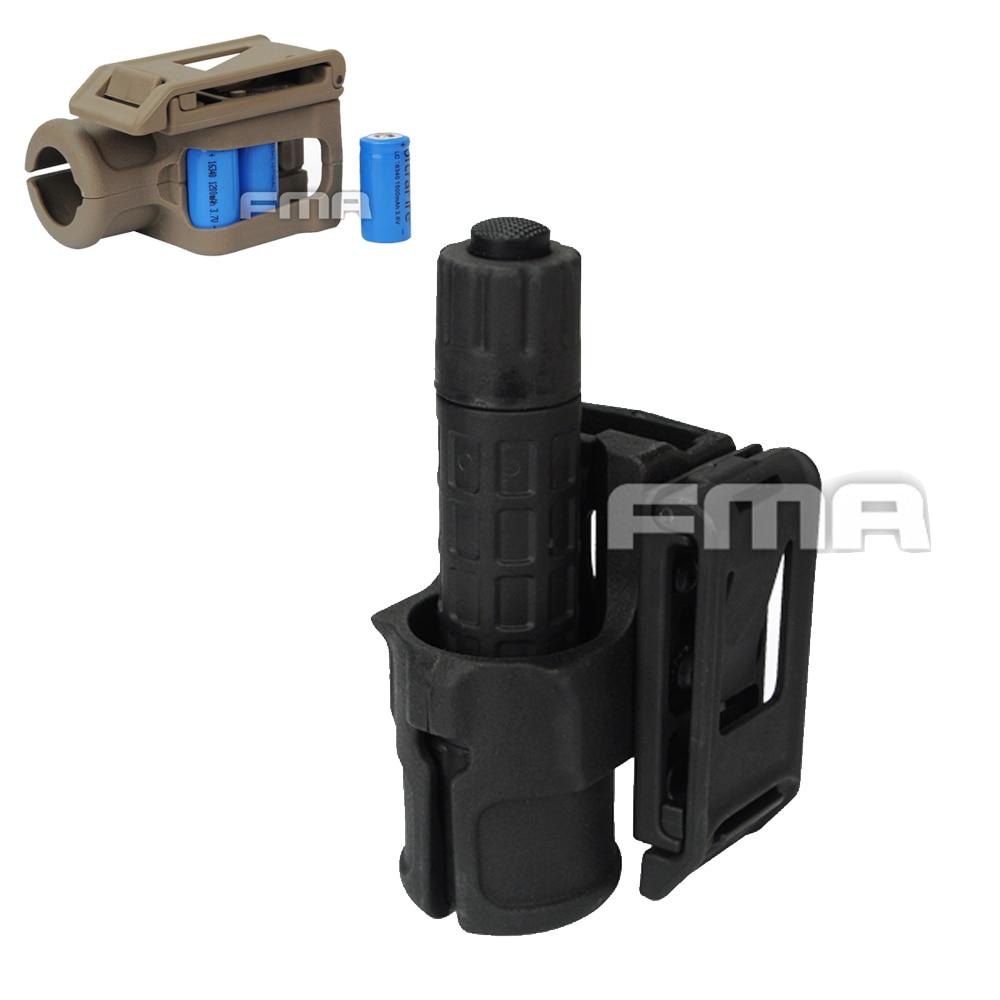 FMA V85 Polymer Handgun Speed Flashlight Holster Tactical Gun Molle Pouch Airsoft Battery Bag Pistol Belt Case Hunting Gear