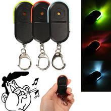 Tipico Mini fischio anti-perso LED Key Finder allarme Wireless fischio controllo vocale portachiavi allarme ricerca chiavi