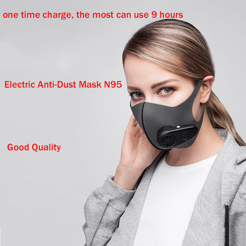 Electric Anti-Dust Meltblown Cloth Mask Ventilation Antifog PM2.5 Face Mask Motorcycle N95 Mask Air Pollution Bacterial Barrier