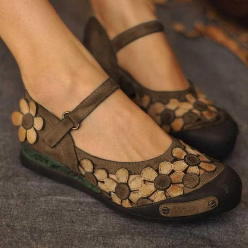 2019 נשים שטוח סנדל פרחי קיץ תחרה עד פלוק סנדלי נקבה אור משקל נעליים יומיומיות חתונה לנשימה נשים נעליים