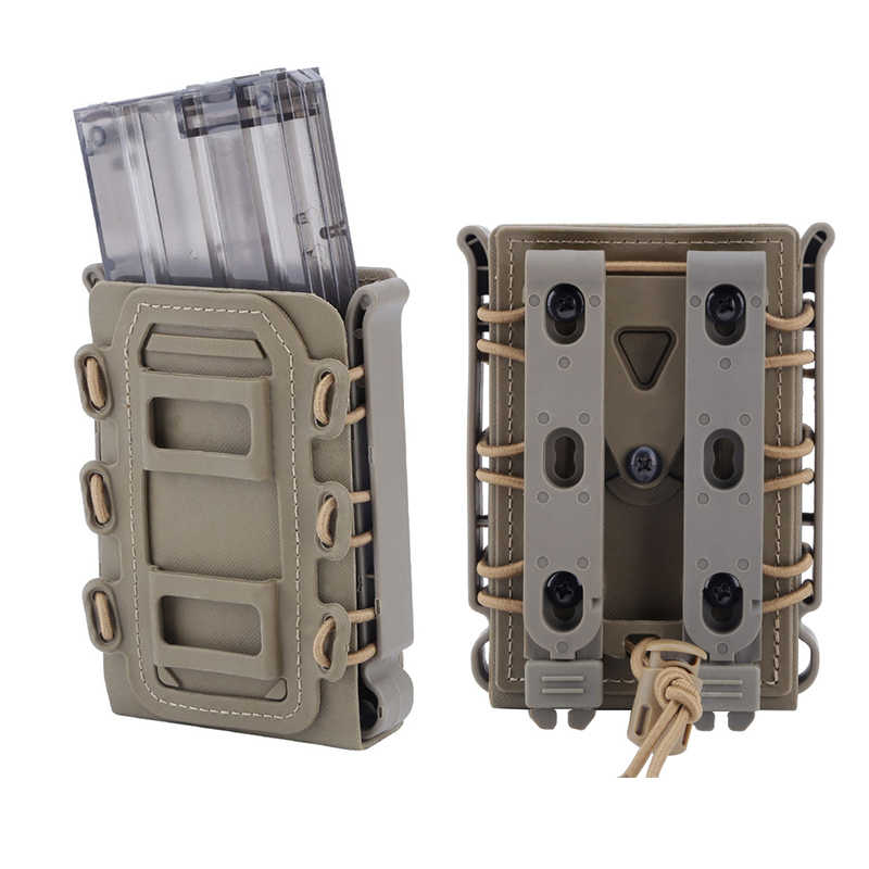 Outdoor 5.56 7.62 Fast Magazine Pouch Quick Release Tactische Mag Nylon Holster Case Box Vervanging Voor Molle Systeem Riem