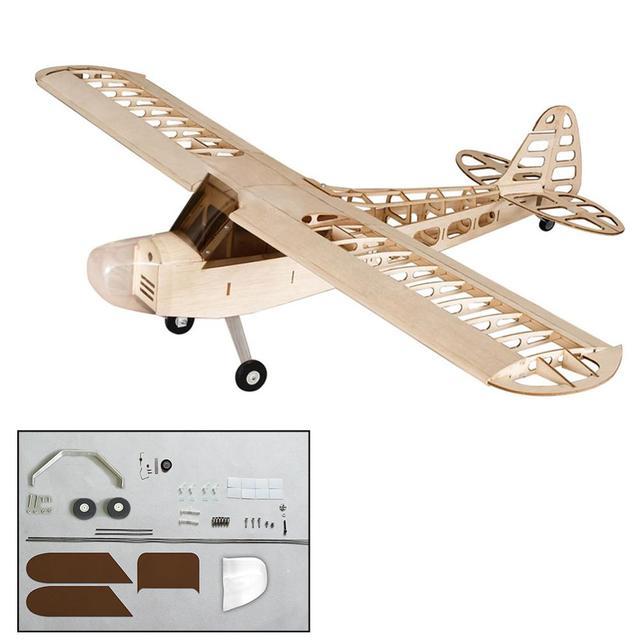 Nouveau 2020 danse ailes passe-temps S0801 1.2M J3 tigre mites 1400mm Balsa bois RC avion Kit moteur ESC & Servo pour les enfants